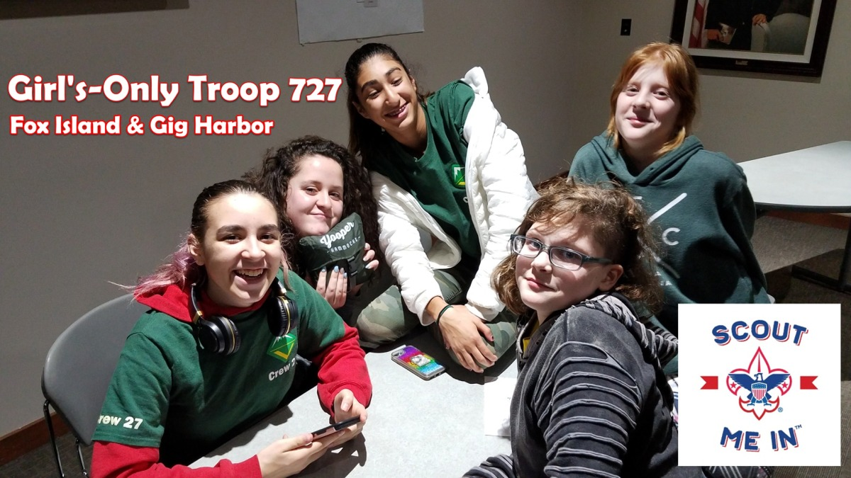 Scouts BSA Girls Troop 727 of Fox Island and Gig Harbor, WA