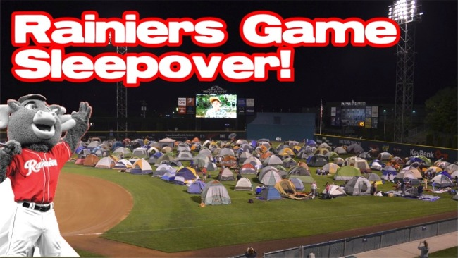 T-727 Rainiers Game Sleepover
